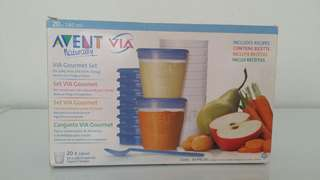 Avent - VIA Gourmet Set ( 10 Cups Only )