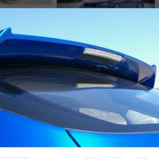 Original 2008 blue subaru imprezza hatchback STI spoiler