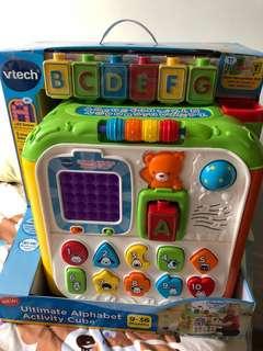 全新 Vtech 升級版益智學習立方體 Ultimate Alphabet Activity Cube
