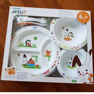NEW Avent Toddler Mealtime Set