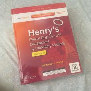 Henry's clinical diagnosis and management 22nd ed.