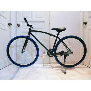 "*SALES* 26"" Black Frame And Black Rim Fixie With Black Tyre Coaster Brakes New BB1"