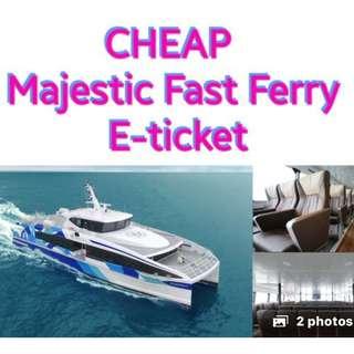 Selling Check E-Ticket Majestic