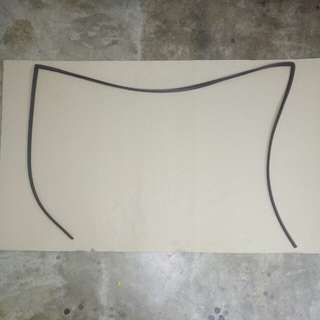 PERODUA MYVI LAGI BEST WINDSCREEN MOULDING FRONT REPLACEMENT PART