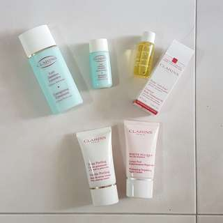 Clarins Products energising emulsion treatment oil peeling scrub night cream travel size