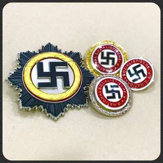 Nazi Wehrmacht National Socialist german army badge world war 2