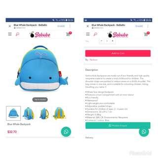 BNWT Nohoo Backpack