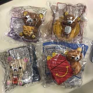 鬆弛熊 開心樂園餐玩具 一套4個 包郵
