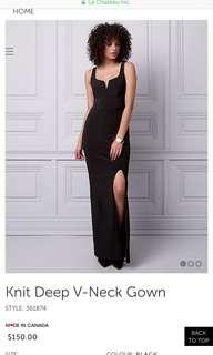 Long black dress (XL)