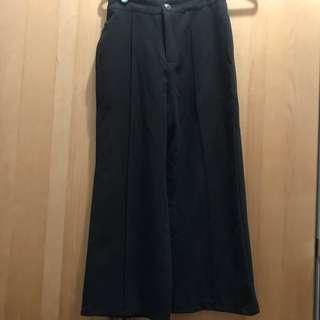 🚚 黑色 彈性寬褲