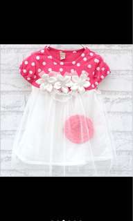 Baby girl tutu flower dress party infant newborn toddler kid