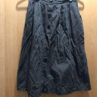 🚚 格紋 傘狀裙
