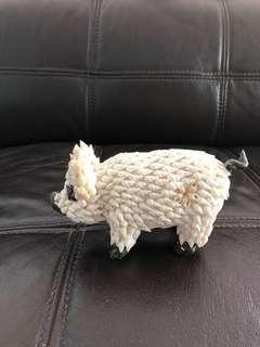 Seashell pig figurine
