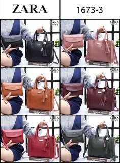Tas Zara Home Virgo Satchel Style 2in1 Semi Premium 1673-3