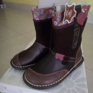 Baby girl leather Boots - Piccola Piu