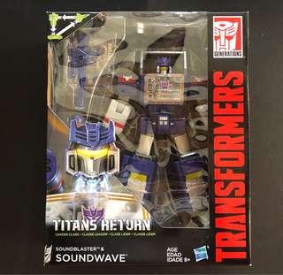 Transformers soundwave leader class titan