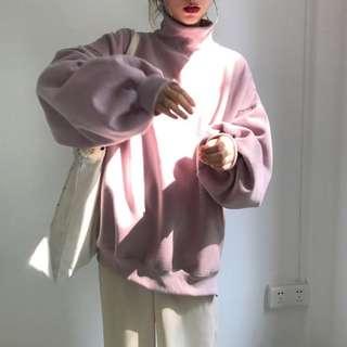 🚚 全新代售粉色蝙蝠袖蓬蓬袖泡泡袖大學t