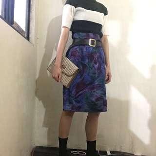 超好質料藍色古窄裙著