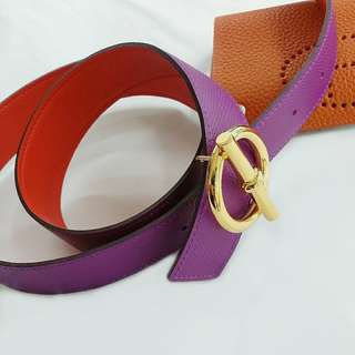Hermes Glenan Belt buckle & reversible leather strap 32mm