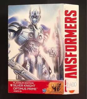 Transformers silver knight optimus prime platinum edition