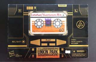 Transformers soundwave linkin park limited edition