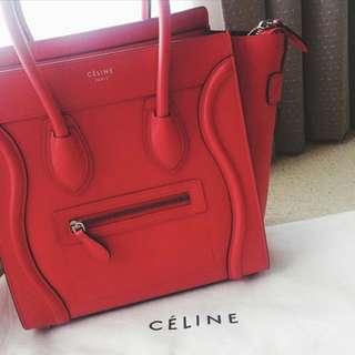 GENUINE Celine Micro Luggage Tote