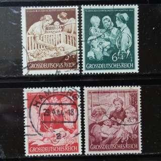 [lapyip1230] 納粹德國 1944年 帝國母嬰服務十周年 全套 Set VFU
