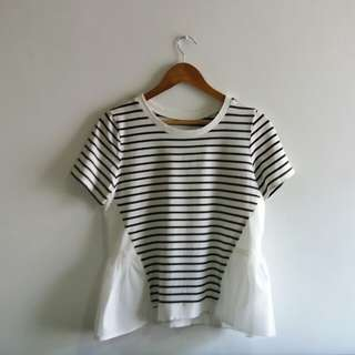 Striped Shirt with Tulle