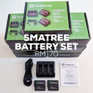 SMATREE Battery Set for GoPro HERO 5/6