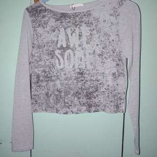 Authentic ESPRIT crop top with sleeves
