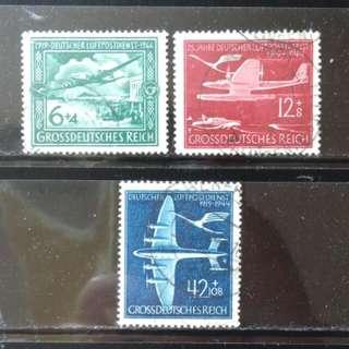 [lapyip1230] 納粹德國 1944年 帝國空郵服務二十五年 全套 Set VFU