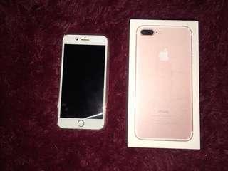iPhone 7+ 128GB rose gold