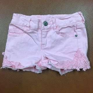 🚚 二手澳洲帶回💟粉紅女童雕花短褲3號