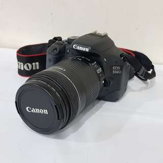Canon EOS 550D with 18-135mm lens