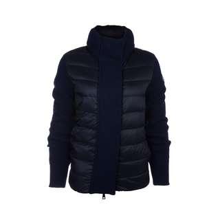 MONCLER - 高領絎縫羽絨針織外套