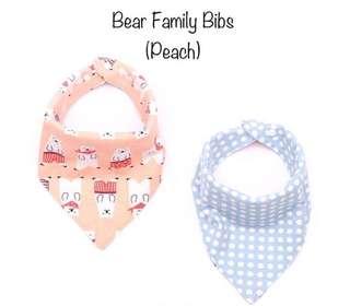 Bear family bib