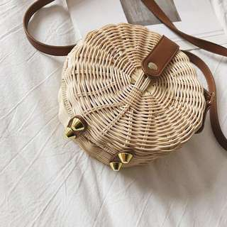 (FREE POSTAGE) Basket Rattan Bag