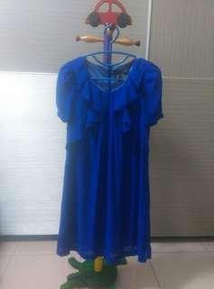 bread n butter寶藍色短洋裝