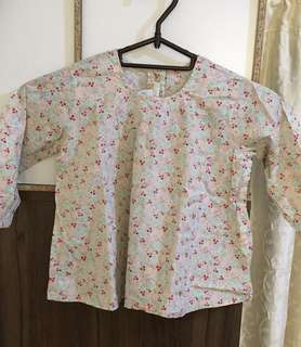 Charity Sale! H&M girls floral vintage formal shirt dress shirt size 9-12Months