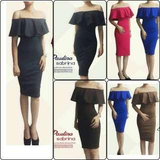 Dress sedy sabtina scuba tile premium import good quality