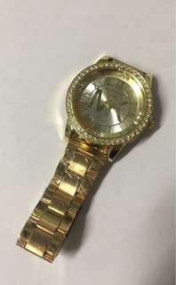 Gold plated womens watch