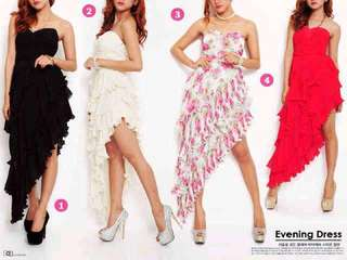 Dress sexy import good quality sifon premium lapis zipper kemben gown night