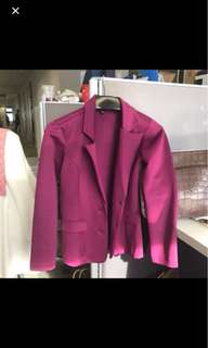 Blazer ungu purple