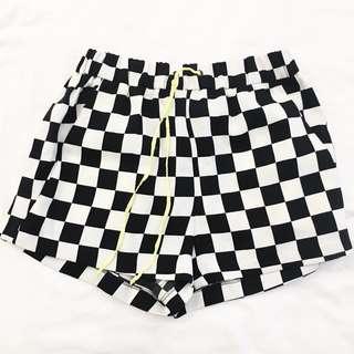ZARA checkered shorts