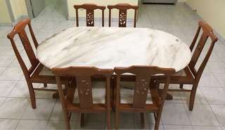 Marble Dinner table set