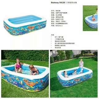 Best way swimming pool  sizes: 2.54m x 1.68m x 1.02m