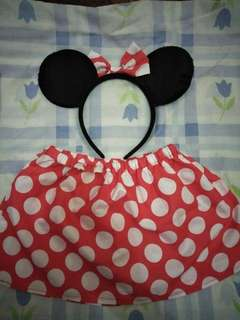 Minnie Mouse Skirt and Headband