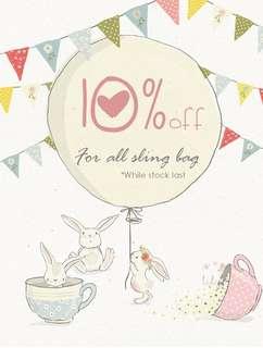 10% off sling bag