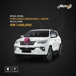 Promo Sewa Toyota Fortuner + Dekor Bunga di Medan Hanya di Nemob.id