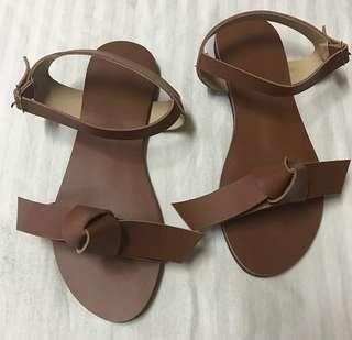 Sling ribbon sandals
